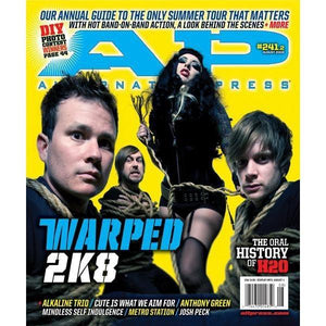 Warped Tour 2008 on Alternative Press Magazine Issue 241 Version 2