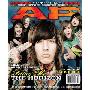Bring Me The Horizon on Alternative Press Magazine Issue 248 Version 1