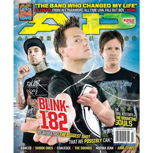 Blink 182 on Alternative Press Magazine Issue 252