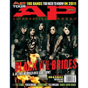 Black Veil Brides on Alternative Press Magazine Issue 273 Version 1