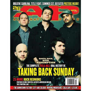 Taking Back Sunday on Alternative Press Magazine Issue 276 Version 1