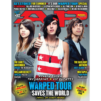 altpress alternative press magazine warped tour 2012 falling in reverse all time low sleeping with sirens of mice & men blessthefall motionless in white we are the in crowd miss may I