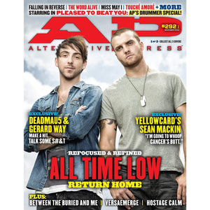 All Time Low on Alternative Press Magazine Issue 292 Version 1
