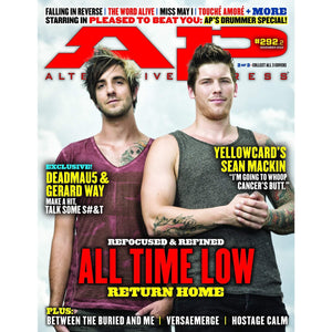 All Time Low on Alternative Press Magazine Issue 292 Version 2