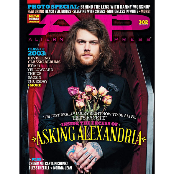 altpress alternative press magazine asking alexandria yellow card thrice season aft thursday every time i die chunk! no captain chunk! pity sex drug church posters