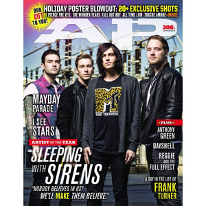 Sleeping with Sirens on Alternative Press Magazine Issue 306 Version 1