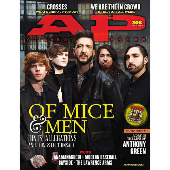 altpress alternative press magazine of mice & men summer set echosmith anthony green crosses we are the in crowd the lawrence arms wonder years