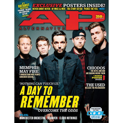 altpress alternative press magazine a day to remember chides memphis may fire the used cloud nothings seahaven nothing posters