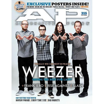 altpress alternative press magazine weezer frank iero mayday parade every time i die code orange nothing more tiny moving parts posters