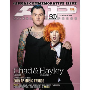 AP Music Awards on Alternative Press Magazine Issue 325 Version 3 Chad Gilbert and Hayley Williams
