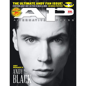 Andy Black on Alternative Press Magazine Issue 331 Version 1