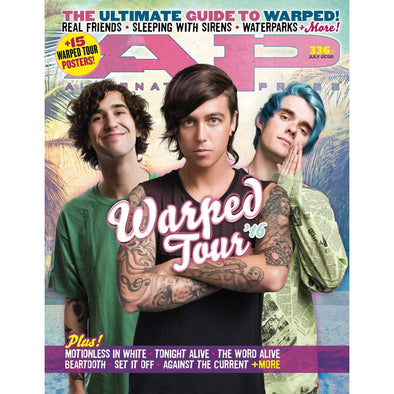 altpress alternative press magazine warped tour 2016 sleeping with sirens motionless in white tonight alive real friends the word alive waterparks nick major betroth chelsea grin emarosa maine knuckle puck roam against the current crown the empire issues broadside ice nine kills motionless in white tonight alive word waterparks posters
