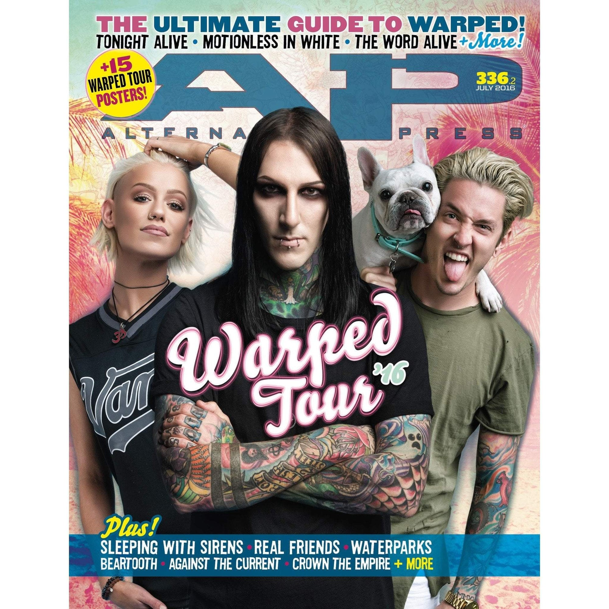 Alternative Press Magazines 336.2 Warped Tour '16 [Motionless In White & Tonight Alive]