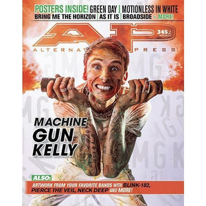 Machine Gun Kelly on Alternative Press Magazine Issue 345 Version 2
