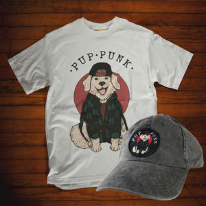 Pup Punk Unisex T-Shirt and Slate Gray Dad Cap Apparel Alternative Press Magazine