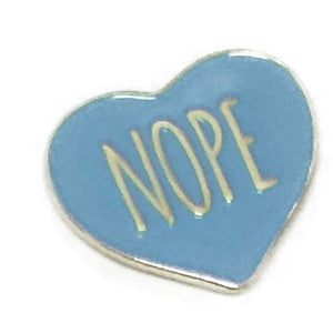 AltPress Nope Pin [Blue] Accessories Alternative Press
