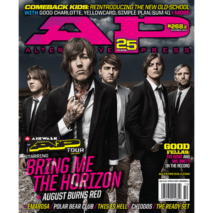 Bring Me The Horizon on Alternative Press Magazine Issue 268 Version 2