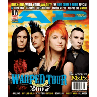 altpress alternative press magazine warped tour 2007 paramore the unseen tiger army bad religion as i lay dying the red jumpsuit apparatus straylight run bayside mxpx