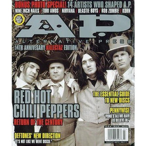 Red Hot Chili Peppers on Alternative Press Magazine Issue 132