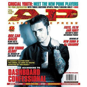 Dashboard Confessional on Alternative Press Magazine Issue 168