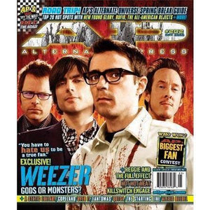 Weezer on Alternative Press Magazine Issue 202