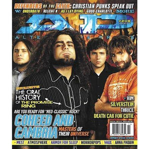 Coheed And Cambria on Alternative Press Magazine Issue 208