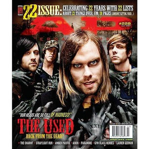 The Used on Alternative Press Magazine Issue 228 Version 1