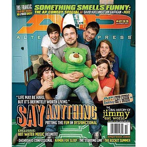 Say Anything on Alternative Press Magazine Issue 233 Version 1