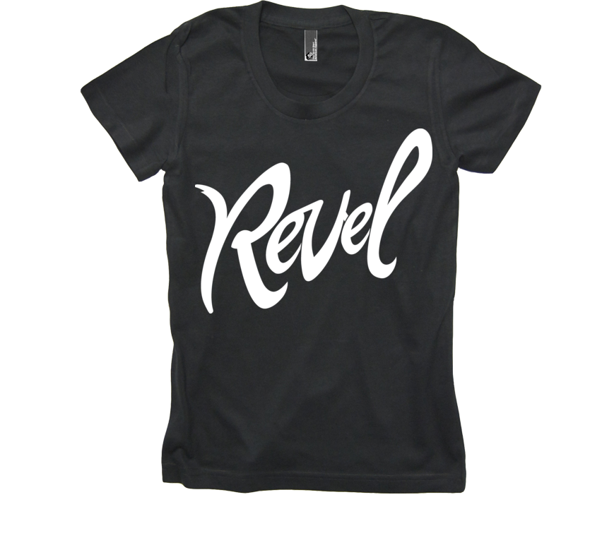 Revel Black Ladies Tee