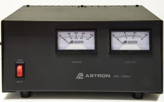 Astron RS-35M Power Supply with meters