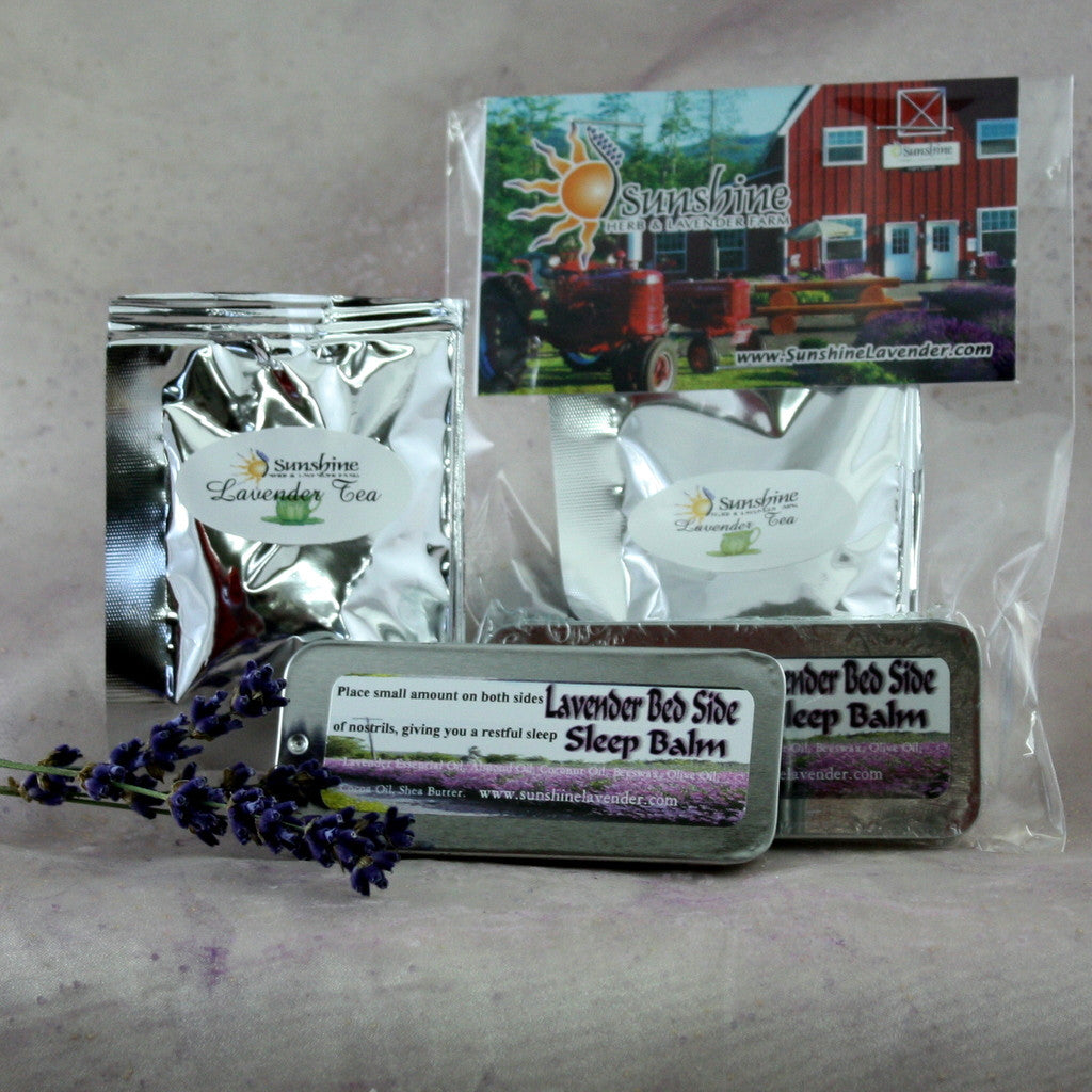 Sleep Balm & Lavender Tea Gift Set