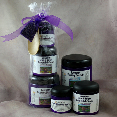 Body Butter, Sugar Scrub & Foaming Bath Salt Gift Set