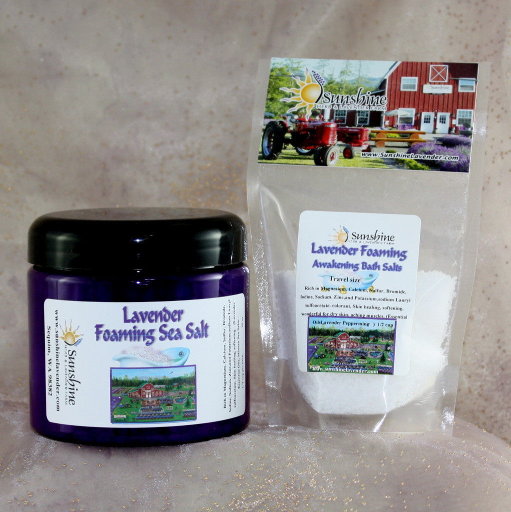 Foaming Lavender Sea Salts