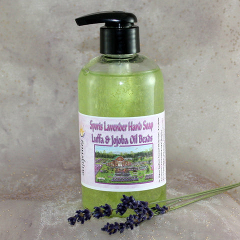 Sports Lavender Hand Soap with Luffa & Jojoba Oil Beads