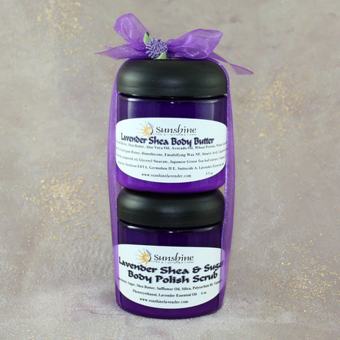 Shea Body Butter and Sugar Scrub Gift Set