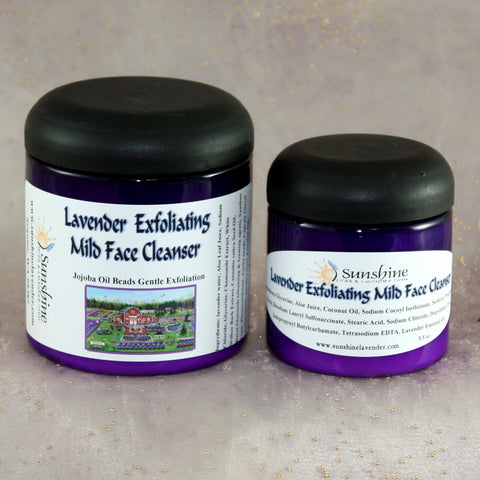 Lavender Exfoliating Mild Face Cleanser