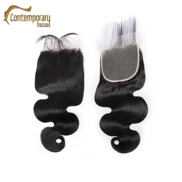 Body Wave Transparent Closure (5x5)