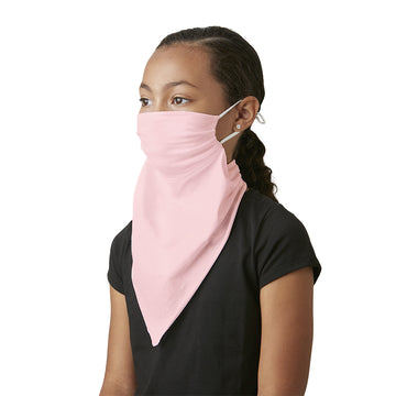 Little Girl's Convertible Fashion Mask Scarf Bandana Light Pink - LIZNA