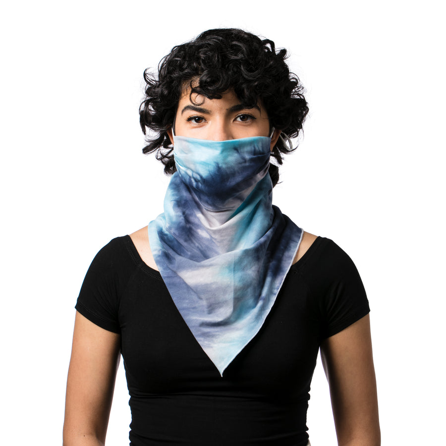 Women's Face Mask Scarf Bandana Tie Dye Mask - Breathable, Reusable, Fashionable, and Functional Face Mask - LIZNA