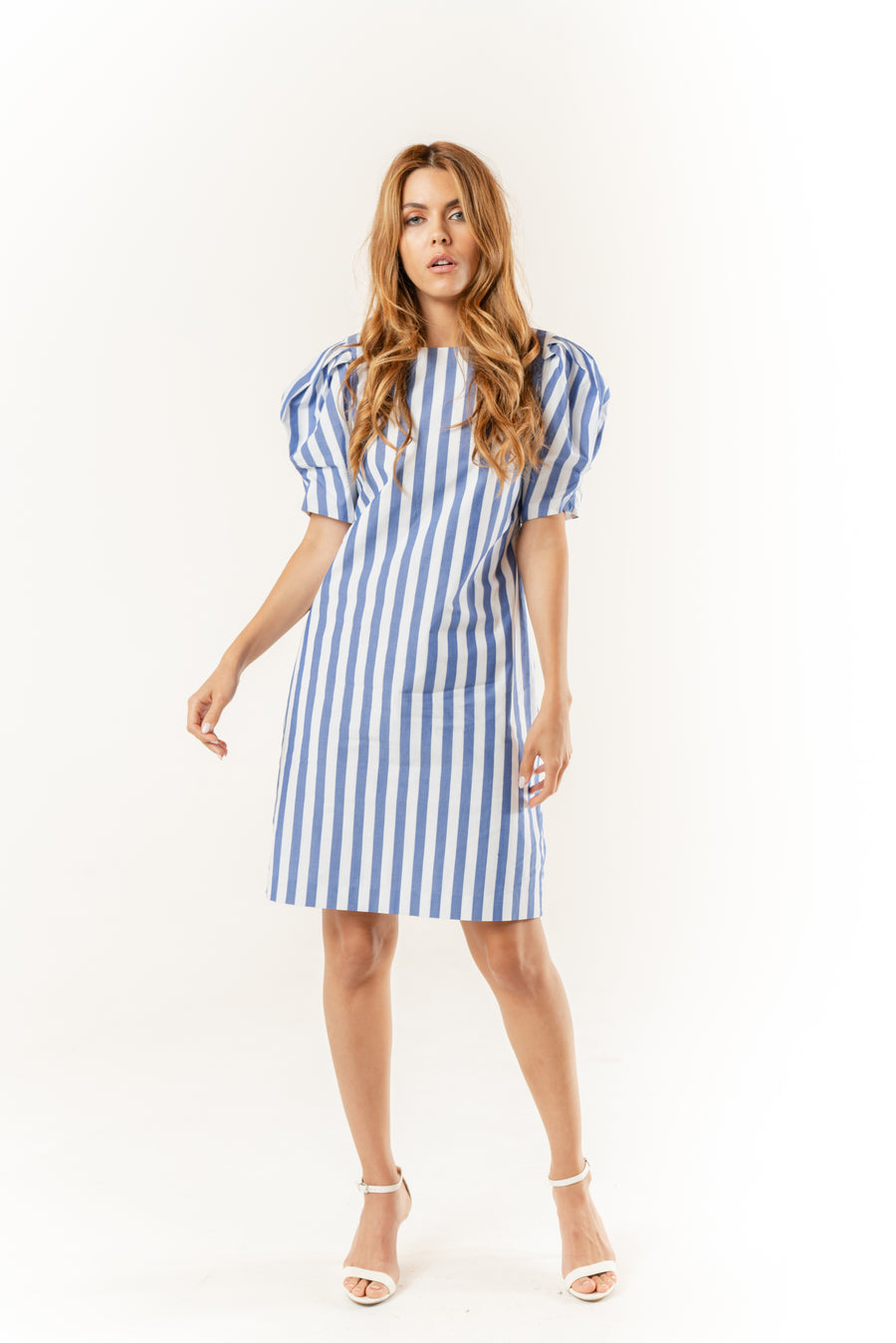 Barb Puff Sleeve Short Dress - LIZNA