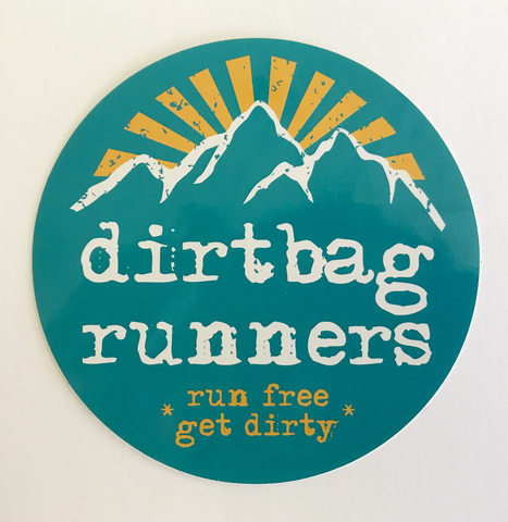 Dirtbag Runners Sunburst Sticker - Circle