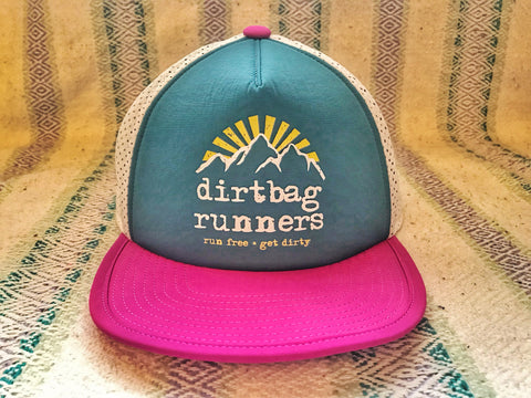 *PRE-ORDER* Hot Pink & Teal DBR Tech Trucker Hat Collab w/ Territory Run Co.