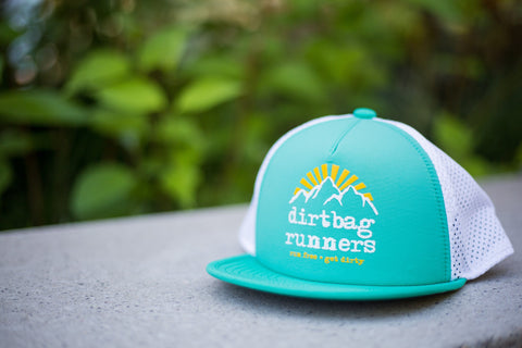 Teal Sunrise DBR Tech Trucker Hat Collab w/ Territory Run Co.