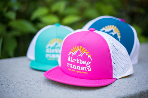 Hot Pink Sunrise DBR Tech Trucker Hat Collab w/ Territory Run Co.