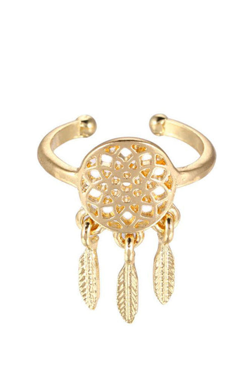 Dreamcatcher Ring- Gold