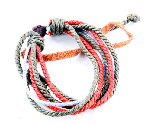 Hemp Rope Bracelet Set