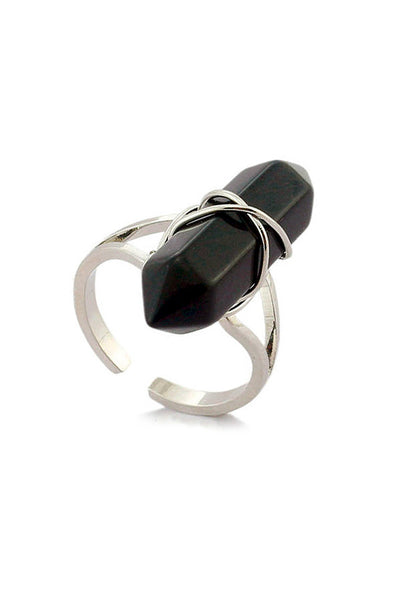 Black Onyx Point Ring
