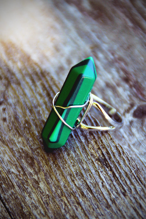 Malachite Point Ring