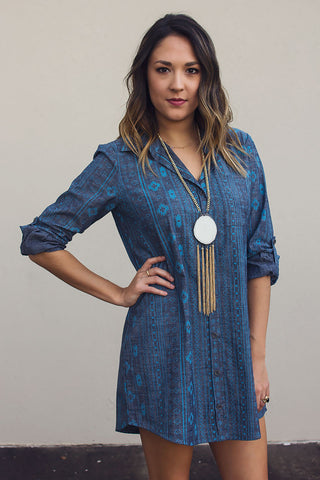 Aztec Denim Dress