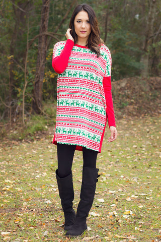 Holly Christmas Tunic